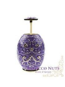 歐風雜貨 珠光紫蛋形牙籤筒-家具,燈具,裝潢,沙發,居家