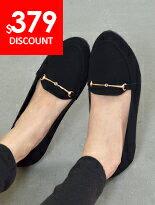 尖頭金線釦平底包鞋-女裝,內衣,睡衣,女鞋,洋裝