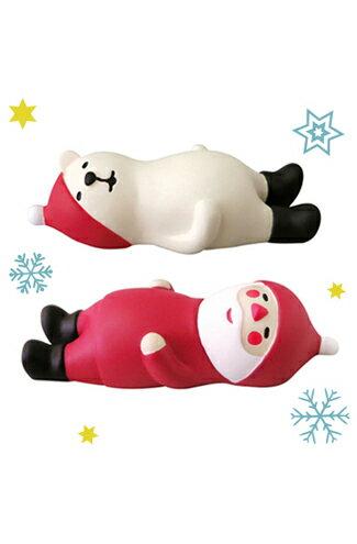 日本Decole聖誕擺飾 耶誕團聚歡樂派對-飯後休憩(聖誕老人)(北極熊)-家具,燈具,裝潢,沙發,居家