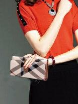 英倫經典格紋中長夾包-女裝,內衣,睡衣,女鞋,洋裝