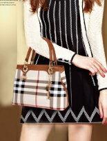 經典格紋質感真皮包-女裝,內衣,睡衣,女鞋,洋裝