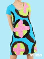 夏日百搭幾何拼貼洋裝-女裝,內衣,睡衣,女鞋,洋裝