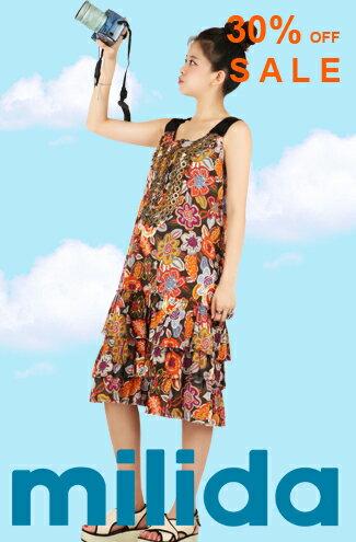 milida夏日嚴選,印花系列洋裝-女裝,內衣,睡衣,女鞋,洋裝