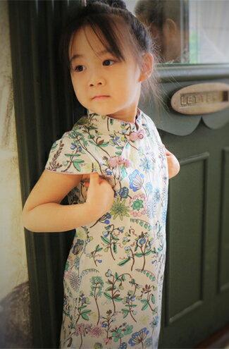 碎花兒童旗袍洋裝-嬰兒,幼兒,孕婦,童裝,孕婦裝