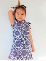 青花瓷兒童旗袍洋裝-嬰兒,幼兒,孕婦,童裝,孕婦裝