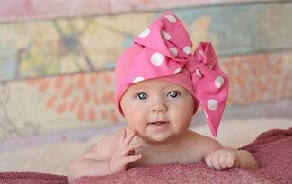 Jamie Rae Hats 桃紅漸層牡丹棉帽-嬰兒,幼兒,孕婦,童裝,孕婦裝