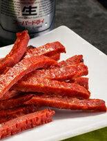 直火手作肉乾x蜜汁嫩切肉乾x蠟筆肉乾(黑胡椒)x蠟筆肉乾(原味)x醬燒拔絲