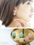 日本製正反兩戴糖果珍珠耳環