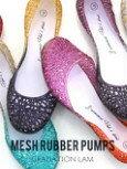 日本超人氣彩色網狀平底鞋