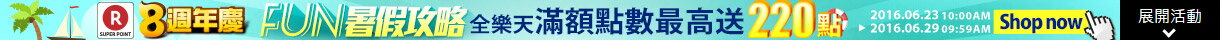Fun暑假攻略!Summer vacation sale!滿額最高再送220點!