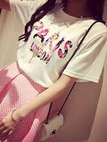 【F-DNA SHOP】碎花印字PARIS短袖T恤上衣↘$99