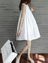 【BOBI】娃娃裝寬鬆無袖洋裝連身裙↘$199