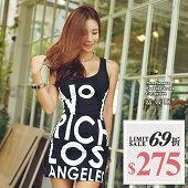 【嘉蒂斯】韓版手寫字母緊身連衣裙↘275$