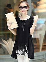 【衣韓館】花朵刺繡寬鬆短袖連身裙↘$269