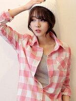 【F-DNA】粉色格紋反折襯衫 免運↘299