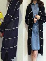 【BOBI】條紋鏤空罩衫外套 免運↘299