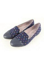 【Shoes Party】MIT真皮斜拼接織布歐貝拉鞋