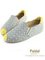 【Paidal】紋點點小鼻帆布休閒鞋樂福鞋