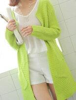 【INDress】糖果色長版針織外套↘$360