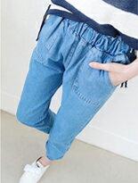 【糖罐子】口袋束口縮腰單寧褲↘$329