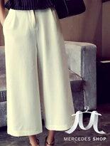 【梅西蒂絲】純色寬鬆分寬管褲↘$445