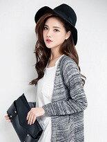 【Pufii】混色排釦口袋長版針織外套↘$345