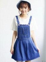 【Kiwi Shop】韓版小學生牛仔吊帶裙↘$330