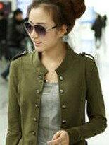 【美麗大街】韓版立領雙排扣修身休閒外套↘$360