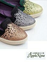 【AppleNana】韓系甜蜜糖霜晶亮腳窩支撐樂福懶人鞋