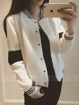 【F-DNA】黑白撞色接袖休閒運動外套↘$199