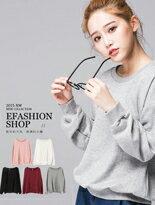 【eFashion】羅紋滾邊衛衣短版長袖上衣↘$199