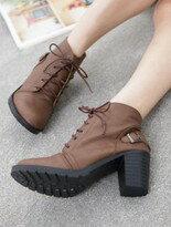 【Messa米莎】韓系復古感釦飾綁帶短靴↘$1196