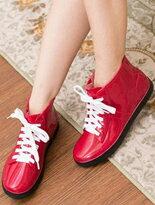 【格子舖】帆布鞋防水雨鞋↘$350