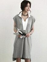 襯衫式短袖長版上衣-女裝,內衣,睡衣,女鞋,洋裝