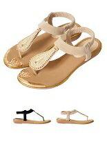 水滴鑽飾夾腳涼鞋-女裝,內衣,睡衣,女鞋,洋裝