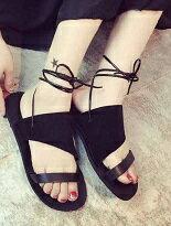 羅馬綁繩式露趾涼鞋-女裝,內衣,睡衣,女鞋,洋裝