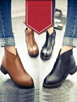 小V開口簡約馬丁短靴-女裝,內衣,睡衣,女鞋,洋裝