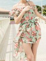 浪漫花朵比基尼三件組-女裝,內衣,睡衣,女鞋,洋裝
