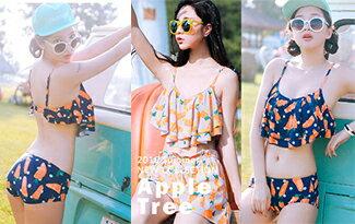 荷葉蘿蔔雙層比基尼-女裝,內衣,睡衣,女鞋,洋裝