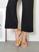 草編平底繞踝涼鞋-女裝,內衣,睡衣,女鞋,洋裝