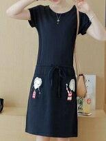 韓版休閒收腰連身裙-女裝,內衣,睡衣,女鞋,洋裝