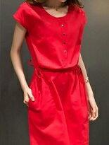 修身棉麻連身洋裝-女裝,內衣,睡衣,女鞋,洋裝