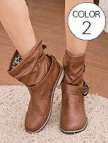 兩穿金屬低跟短筒靴-女裝,內衣,睡衣,女鞋,洋裝