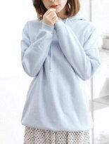 素面字母連帽長版棉T-女裝,內衣,睡衣,女鞋,洋裝