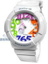 CASIO Baby-G白框炫彩立體時標