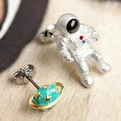 浩瀚星殞宇宙飛行員耳環