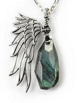 925純銀 比翼雙飛-納長石珠寶項鍊