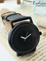 香港SINOBI極簡無印純色個性絲綢緞面內真皮錶