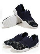 素色迷彩拼接彈力舒適休閒鞋懶人鞋