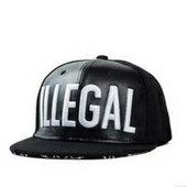 嘻哈街舞平沿帽 棒球帽
